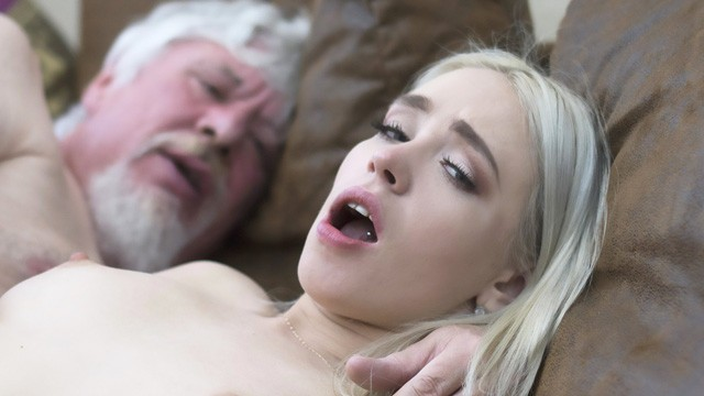 Grandpa has a big cock College student has sex with an ugly old fuck super hard