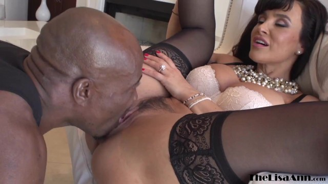 MILF in stockings Lisa Ann eaten out and smashed by BBC stud