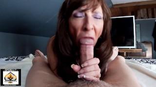 Sexy Granny Juicy Blowjob Big Cumshot