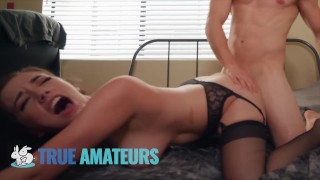 Huge Tits 18 y/o Takes A Pussy Creampie - Trueamateur