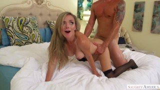 Naughty America - Wifes Friend wears sexy Lingerie to Seduce Husband