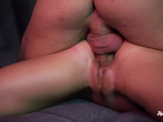 Hot Massage and CloseUp Fuck with Nice Babe. Real Orgasm!