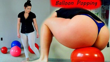 Booty Balloon Popping Challenge