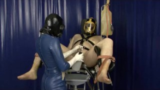 Heavy Rubber Latex Gas Mask Breath Play Control Femdom Clinic Bondage Slave