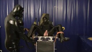Latex Master And Slave Girl Breathplay Rubber Sheet Fucking Sniffing Dildo