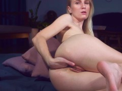 Teen girl tries anal fisting & anal prolapse solo mashayang | Recorded Cam Show