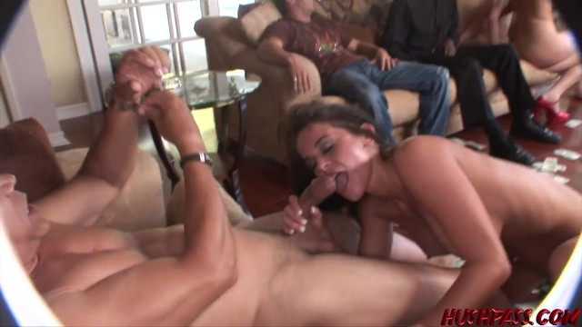 Stunning babes tease hard before fucking big cock group sex