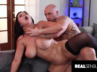 Stunning MILF Romi Rain Throating and Fucking a Huge Cock
