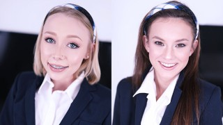 SCHOOLGIRLS ATHENA MAY & ELLIE EILISH TRAIN AT THE SWALLOW ACADEMY
