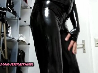 Jessi dick latex catsuit and boots...