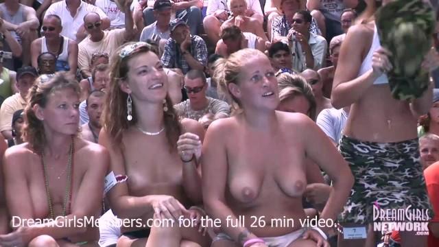 Nudist junior contest 2008 3 Exhibitionist milf wet t-shirt contest at a nudist resort