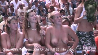 Exhibitionist Milf Wet T-shirt Contest At A Nudist Resort