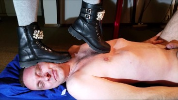 Boots trample