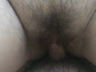 Teen young girl stuffed and unprotected creampied by fat daddy's cock