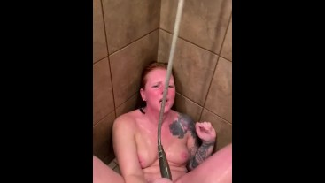 SHOWER HEAD VIBRATIONS LEAD TO CUMMING TOGETHER