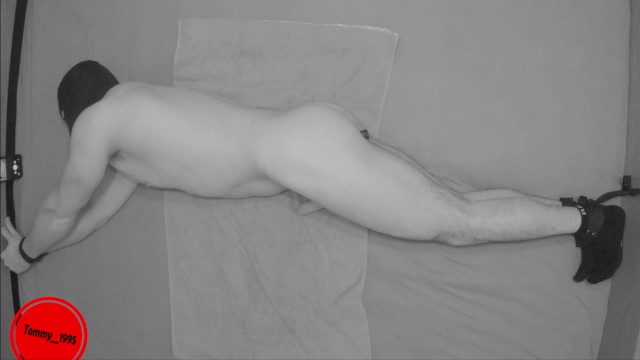 Electro stimulation penis Moaning while his prostate is getting stimulated- restrained orgasm torture