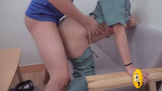 Pinching feeling in vaginal area Pinay nurse gets fucked at a private clinic waiting area