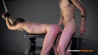 Young Twink Hardcore Bareback Breeding By Hung Bondage Master