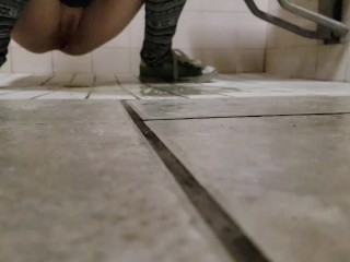 Slow Mo Piss On The Floor from a tiny man's pov