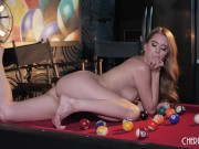Classy Young Babe Jill Kassidy Solo Fingers Her Twat After Striptease