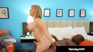 Plump Pussy Sara Jay Fucked & Nutted On By Big Black Cock!