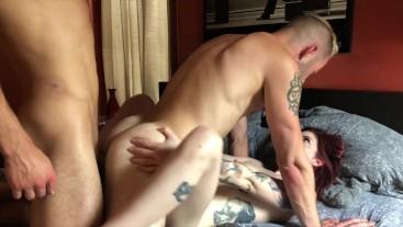 Bi Threesome With Dante Colle,  Wolf Hudson & Fabiana Fox Part 3