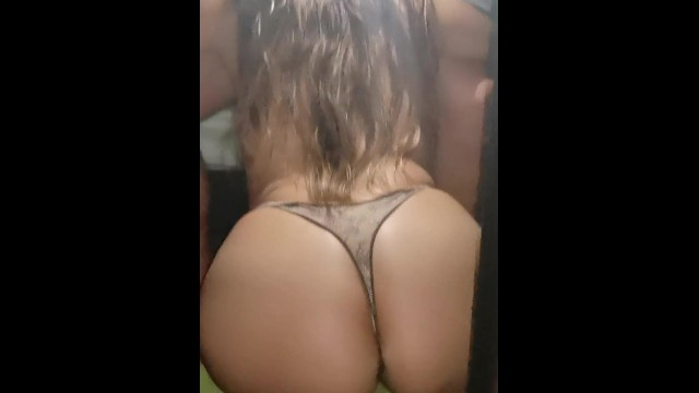 Thongs an ass - My friend girlfriend sucks me rich and then fuck with her thongs