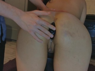 Arab babe's first EVER anal training makes her cum HARD