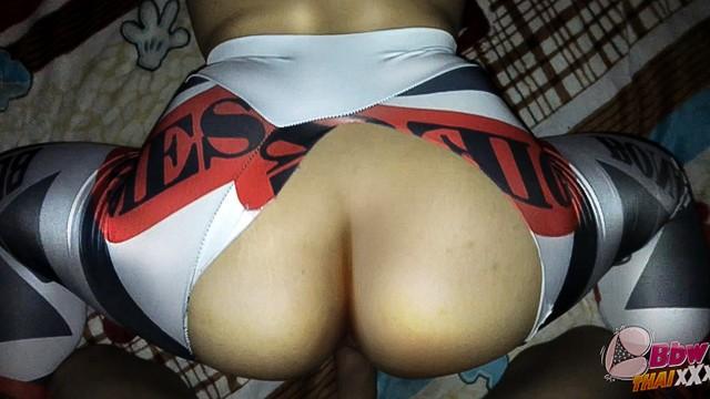 Thai bbw Thai bbw wife fucked doggy 4 yoga pants hot