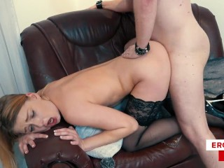 This naughty pornstar randomly BANGS her fans! ENGLISH Horny Lucy Heart
