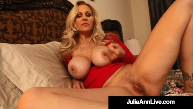 Huge tits jack off Horny step mom julia ann gives amazing jack off instructions