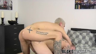 Amateur British twinks suck each other off before banging