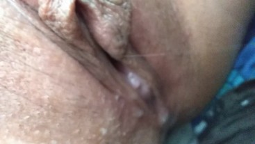 Closeup pussy after cream pie