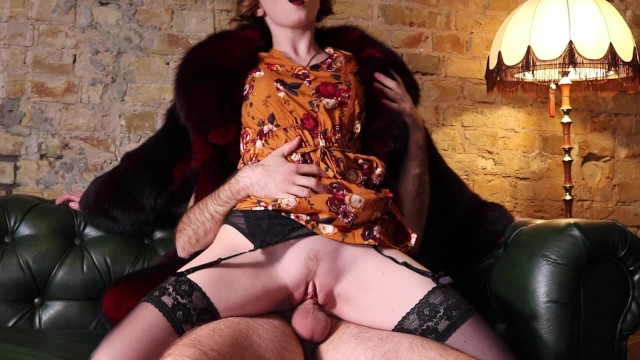 Vintage happi coats - Amazing retro style sex in fur coat trailer