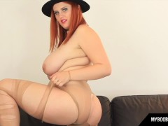 Busty Redhead Alexsis Faye Have Fun And Destroys Pantyhose