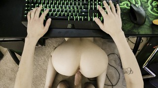 Hot Sex Porn - Family Strokes - Kenzie Madison Sucking Stepbros Cock While He Plays Videogames