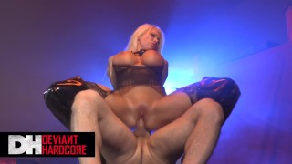 Deviant hardcore – Big tit Blonde sub Lolly Ink likes it rough