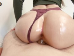 Tinder date NO BIRTH CONTROL gets creampie - Oiled Ass Doggystyle POV ASMR