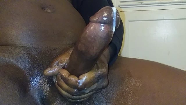 Thick and hard cocks - Big black cock milking my hard dick for a heavy cumshot