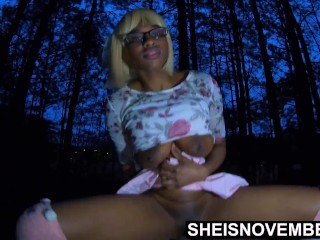 Ebony Rider Step Daughter Tame Step Dad Cock With Her Young Tight Pussy HD