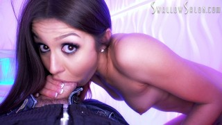 CATALINA OSSA PROVIDES SENSUAL SUCK JOB TO LUCKY GUY