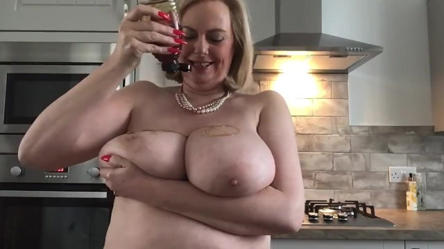 Sticky gfs milf - Annabels friday afternoon fruity sticky big tit play