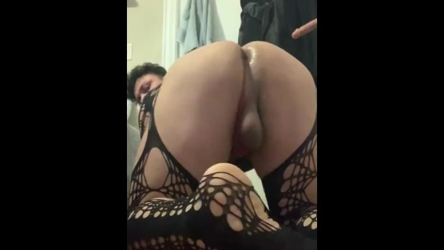 Gay first time net First time cross dressing and putting on fish nets wet boy pussy