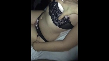 French Amateur Showing Off In Hotel Corridor Before Riding Dick
