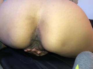Jade rubbing her pussy for a little pleasure .