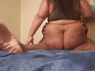 BBW TWERKS AND CREAMS ALL OVER HUSBAND'S BBC