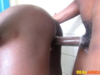 GHANA SLUT FUCKED IN CAMPUS BATHROOM SEXTAPE (leaked)