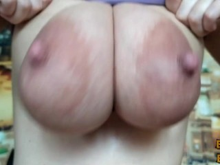 Compression of the boobs. Pinching the nipples. The pressing of the tits.