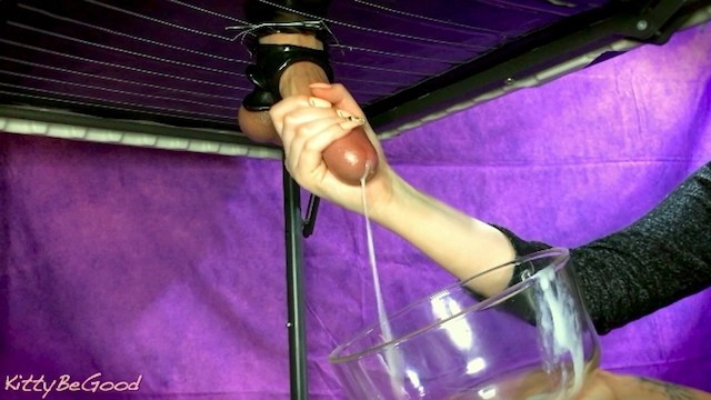 Sex in a bowl recipe - Sensual edging torture - frenulum play with nails milked into a bowl