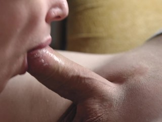 Epic pulsating dick in her mouth